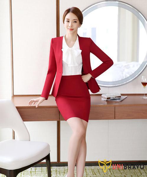 Thiết kế may đồng phục công sở nữ nhẹ nhàng trẻ trung sang trọng